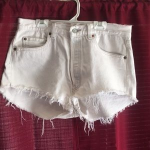 White vintage high waisted Levi cut-offs
